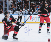 Chris Kreider Signed Rangers 20x24 Photo on Canvas (Kreider COA) at PristineAuction.com