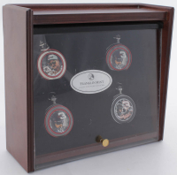 Dale Earnhardt Franklin Mint Wood Boxed Pocket Watch Set including (4) Pocket Watches at PristineAuction.com