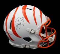 Joe Burrow Signed Bengals Full-Size Authentic On-Field Matte White Speed Helmet (Fanatics Hologram) at PristineAuction.com