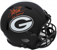 "Terrell Davis Signed Georgia Bulldogs Full-Size Authentic On-Field Eclipse Alternate Speed Helmet Inscribed ""Go Dawgs"" (Radtke COA) at PristineAuction.com"
