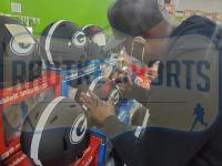 "Terrell Davis Signed Georgia Bulldogs Full-Size Authentic On-Field Eclipse Alternate Speed Helmet Inscribed ""Go Dawgs"" (Radtke COA) at PristineAuction.com"