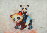 "Rodney Weng Signed ""Play Time"" 25x36 Original Oil Panting on Linen (PA LOA) at PristineAuction.com"