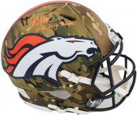 "Terrell Davis Signed Broncos Full-Size Authentic On-Field Camo Alternate Speed Helmet Inscribed ""Mile High Salute"" (Radtke COA) at PristineAuction.com"