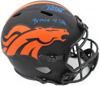 "Terrell Davis Signed Broncos Full-Size Eclipse Alternate Speed Helmet Inscribed ""Bronco 4 Life"" (Radtke COA) at PristineAuction.com"