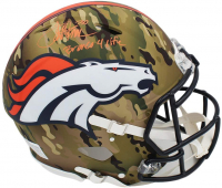 "Terrell Davis Signed Broncos Full-Size Authentic On-Field Camo Alternate Speed Helmet Inscribed ""Bronco 4 Life"" (Radtke COA) at PristineAuction.com"