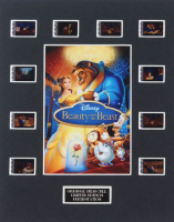 """""""Beauty & The Beast"""" LE 8x10 Custom Matted Original Film / Movie Cell Display at PristineAuction.com"""