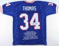 Thurman Thomas Signed Career Highlight Stat Jersey (JSA COA) at PristineAuction.com