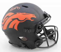 Drew Lock Signed Broncos Full-Size Authentic On-Field Eclipse Alternate Speed Helmet (Beckett COA) at PristineAuction.com