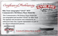 "Mike Trout Signed Old Hickory Player Model MT27 LE Baseball Bat Inscribed ""GOAT"" (MLB Hologram) at PristineAuction.com"