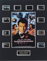 """James Bond """"Tomorrow Never Dies"""" LE 8x10 Custom Matted Original Film / Movie Cell Display at PristineAuction.com"""