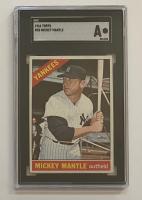 Mickey Mantle 1966 Topps #50 DP (SGC Authentic) at PristineAuction.com