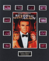 "James Bond ""Never Say Never Again"" LE 8x10 Custom Matted Original Film / Movie Cell Display at PristineAuction.com"