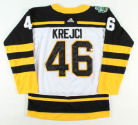 Bruins Jersey Team-Signed by (24) with David Krejci, Cam Neely, David Pastrnak, Brad Marchand (YSMS COA) at PristineAuction.com