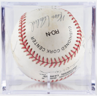 ONL Baseball Signed by (10) With Rollie Fingers, Jim Wynn, Ken Sanders with Display Case (Sportscards LOA) at PristineAuction.com