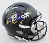 Patrick Queen Signed Ravens Full-Size Speed Helmet (Beckett COA) at PristineAuction.com