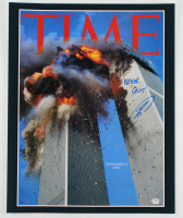 "Robert J. O'Neill Signed ""September 11th Twin Towers"" TIME Magazine 16x20 Photo Cover Inscribed ""Never Quit!"" (PSA COA) at PristineAuction.com"