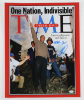 "Robert J. O'Neill Signed ""President Bush September 11th"" TIME Magazine 16x20 Photo Cover Inscribed ""Never Quit!"" (PSA COA) at PristineAuction.com"