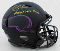 """Randy Moss Signed Vikings Full-Size Authentic On-Field Eclipse Alternate Speed Helmet Inscribed """"Straight Cash Homie"""" (Beckett COA) at PristineAuction.com"""