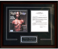 Tupac Shakur Signed 21.5x26 Custom Framed 1993 Contract (JSA LOA) at PristineAuction.com