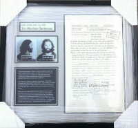 Jim Morrison Signed 19x20 Custom Framed Court Document at PristineAuction.com
