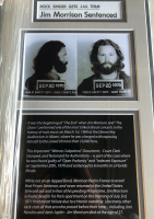 Jim Morrison Signed 19x20 Custom Framed Court Document at PristineAuction.com