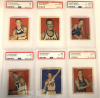 1948 Bowman Complete Set of (72) Basketball Cards with #32 Red Holzman RC (PSA 5), #48 Ed Sadowski (PSA 4), #66 Jim Pollard RC (PSA 6), #69 George Mikan RC (PSA 3) at PristineAuction.com