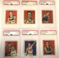 1948 Bowman Complete Set of (72) Basketball Cards with #32 Red Holzman RC (PSA 5), #48 Ed Sadowski (PSA 4), #66 Jim Pollard RC (PSA 6), #69 George Mikan RC (PSA 3) at PristineAuction.com