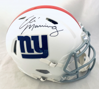 Eli Manning Signed Giants Full-Size Authentic On-Field Matte White Speed Helmet (Fanatics Hologram) at PristineAuction.com