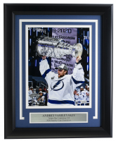 Andrei Vasilevskiy Signed Lightning 11x14 Custom Framed Photo Display (Fanatics Hologram) at PristineAuction.com