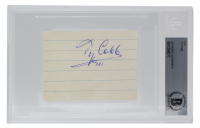 Ty Cobb Signed Cut (BGS Encapsulated) at PristineAuction.com