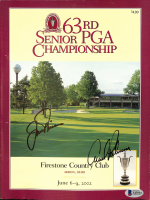 "Arnold Palmer & Jack Nicklaus Signed 2002 ""63rd PGA Championship"" Program (Beckett COA) at PristineAuction.com"