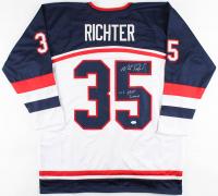 """Mike Richter Signed Jersey Inscribed """"US HOF 2008"""" (JSA COA) at PristineAuction.com"""