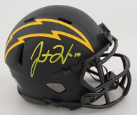 Justin Herbert Signed Chargers Eclipse Alternate Speed Mini Helmet (Beckett COA) at PristineAuction.com