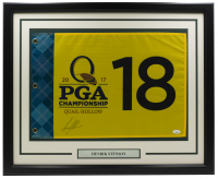 Henrik Stenson Signed 2017 PGA Championship 20x30 Custom Framed Flag Display (JSA COA) at PristineAuction.com