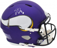 Justin Jefferson Signed Vikings Full-Size Authentic On-Field Speed Helmet (Beckett COA) at PristineAuction.com