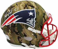 Rob Gronkowski Signed Patriots Full-Size Authentic On-Field Camo Alternate Speed Helmet (Radtke COA) at PristineAuction.com