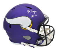 "Brett Favre Signed Vikings Full-Size Speed Helmet Inscribed ""HOF 16"" (Radtke COA) at PristineAuction.com"
