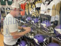 """Brett Favre Signed Vikings Full-Size Speed Helmet Inscribed """"HOF 16"""" (Radtke COA) at PristineAuction.com"""