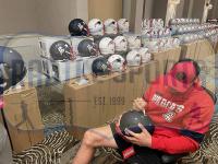 Rob Gronkowski Signed Patriots Full-Size Authentic On-Field AMP Alternate Speed Helmet (Radtke COA) at PristineAuction.com