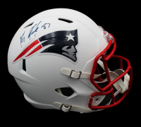 Rob Gronkowski Signed Patriots Full-Size Matte White Speed Helmet (Radtke COA) at PristineAuction.com