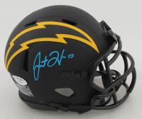 Justin Herbert Signed Chargers Eclipse Alternate Speed Mini Helmet (PSA COA) at PristineAuction.com