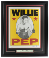 Willie Pep Signed LE 22x27 Custom Framed Lithograph Display (JSA COA) at PristineAuction.com