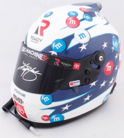 Kyle Busch Signed NASCAR M&M's Patriotic Full-Size Helmet (PA COA) at PristineAuction.com