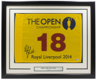 Phil Mickelson Signed 2014 The Open Royal Liverpool 20x30 Custom Framed Golf Flag Display (Beckett COA) at PristineAuction.com
