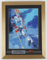 "LeRoy Neiman ""Wayne Gretzky"" 14x18 Custom Framed Print Display with 802 Goals Metal Pin at PristineAuction.com"
