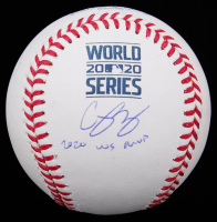 "Corey Seager Signed 2020 World Series Baseball Inscribed ""2020 WS MVP"" (MLB Hologram) at PristineAuction.com"