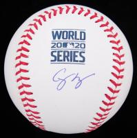 Corey Seager Signed 2020 World Series Baseball (MLB Hologram) at PristineAuction.com