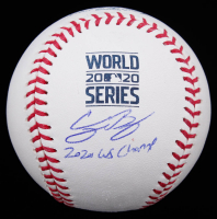 """Corey Seager Signed 2020 World Series Baseball Inscribed """"2020 WS Champ"""" (MLB Hologram) at PristineAuction.com"""