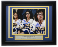 "Dave Hanson, Steve Carlson & Jeff Carlson Signed ""Slap Shot"" 11x14 Custom Framed Photo (Beckett COA) at PristineAuction.com"