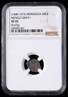 "Mengli I Giray ""Great Khan"" 1468-1515 Mongolia Silver Akce (NGC XF45) at PristineAuction.com"